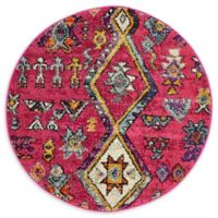 Unique Loom Adobe Sedona 3' Round Rug in Pink
