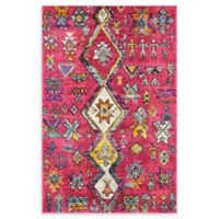 Unique Loom Adobe Sedona 4' x 6' Area Rug in Pink