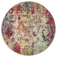 Nahuati Alta 8' Round Multicolor Area Rug