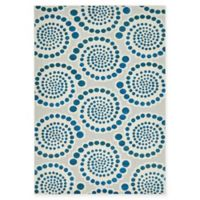 Charlotte Transitional 7' x 10' Area Rug in Cream/Blue