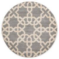 Unique Loom Trellis 6' Round Area Rug in Grey