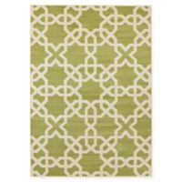 Unique Loom Charlotte Trellis 7' x 10' Area Rug in Green