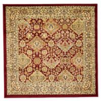 Unique Loom Colonial Agra 4' Square Area Rug in Red