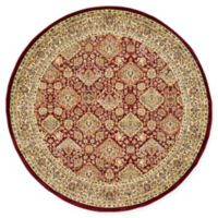 Unique Loom Colonial Agra 6' Round Area Rug in Red