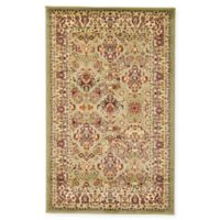 Unique Loom Colonial Agra 3' x 5' Area Rug in Light Green