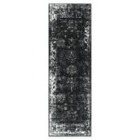 Unique Loom Sofia Floral 6'7 Runner in Black