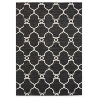 Unique Loom Columbus 7' x 10 Power-Loomed Area Rug in Black