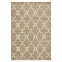 Columbus Transitional 4' x 6' Area Rug in Light Brown