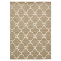 Columbus Transitional 7' x 10' Area Rug in Light Brown