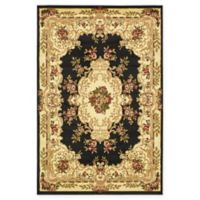 Unique Loom Charles Versailles 4' x 6' Area Rug in Black