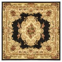 Unique Loom Charles Versailles 6' x 6' Area Rug in Black