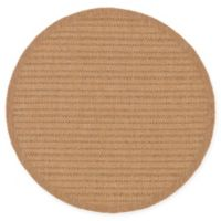 Unique Loom Checkered 6' Round Indoor/Outdoor Rug in Light Brown