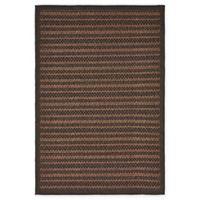 Unique Loom Checkered Trellis 4' x 6' Indoor/Outdoor Area Rug in Brown
