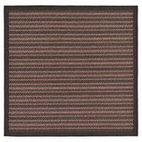 Unique Loom Checkered Trellis 6' x 6' Indoor/Outdoor Area Rug in Brown