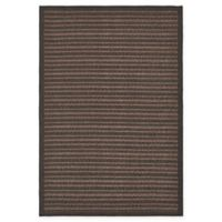 Unique Loom Checkered Trellis 6' x 9' Indoor/Outdoor Area Rug in Brown