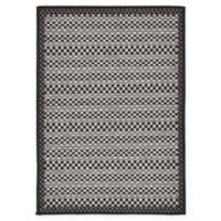 Unique Loom Checkered Trellis 2'2 x 3' Indoor/Outdoor Accent Rug in Grey