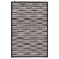 Unique Loom Checkered Trellis 3' x 5' Indoor/Outdoor Area Rug in Grey