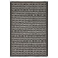 Unique Loom Checkered Trellis 4' x 6' Indoor/Outdoor Area Rug in Grey