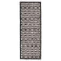 Unique Loom Checkered Trellis 6' Indoor/Outdoor Runner in Grey