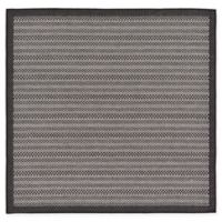 Unique Loom Checkered Trellis 6' x 6' Indoor/Outdoor Area Rug in Grey