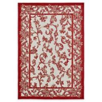 Unique Loom Transitional 4' x 6' Area Rug in Beige/Red