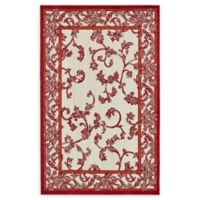 Unique Loom Transitional 5' x 8' Area Rug in Beige/Red