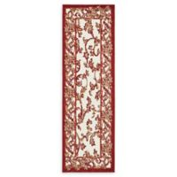 Unique Loom Transitional 2' x 6' Runner in Beige/Red