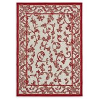 Unique Loom Transitional 7' x 10' Area Rug in Beige/Red
