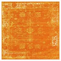 Unique Loom Sofia 6' Square Area Rug in Orange