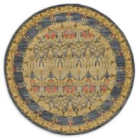 Unique Loom Sedona 6' Round Area Rug in Navy Blue