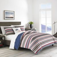 Eddie Bauer® Brewster Stripe King Duvet Set in Navy