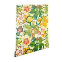 Deny Designs Heather Dutton Bouquet 2-Foot x 8-Foot Wallpaper in Green/Yellow