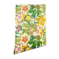 Deny Designs Heather Dutton Bouquet 2-Foot x 10-Foot Wallpaper in Green/Yellow