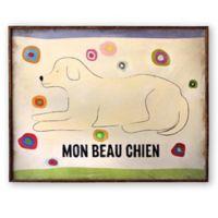 """Mon Beau Chien"" 24-Inch x 30-Inch Wall Art"