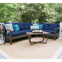 Leisure Made Augusta 5-Piece Sectional Patio Furniture Set in Navy