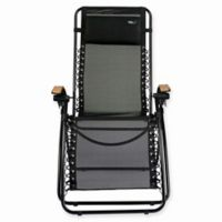 TravelChair® Lounge Lizard Zero Gravity Recliner in Black