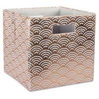 Design Imports Wave 11-Inch Storage Cube in Copper