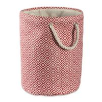 Design Imports Geometric Diamonds Medium Round Paper Storage Bin in Brown
