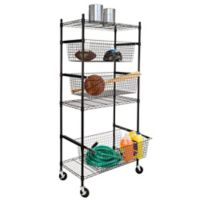 Honey-Can-Do® All-Star Sports Steel Rack in Black