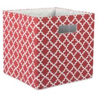 Design Imports Lattice 11-Inch Storage Cube in Brown