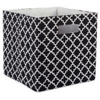Design Imports Lattice 11-Inch Storage Cube in Black