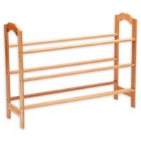 New Ridge Home Goods® 3-Tier Bamboo Shoe Rack