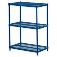 Design Ideas® MeshWorks® 3-Tier Steel Wire Shelving in Blue