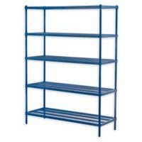 Design Ideas® MeshWorks® 5-Tier Steel Wire Shelving in Blue