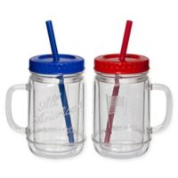 CreativeWare® Acrylic All American Mason Jar Mugs (Set of 2)