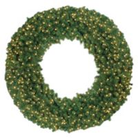 72-Inch Pre-Lit Traditional Pine Wreath