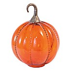 Boston International 11-Inch Blown Glass Pumpkin Decor