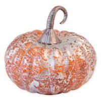Boston International 7-Inch Blown Glass Silver Foil Pumpkin Decor