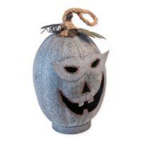 Boston International Masked Marvin Galvanized Metal Pumpkin Tea Light Holder