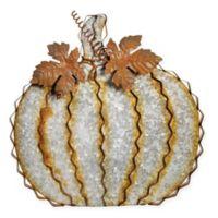 Boston International 14-Inch Galvanized Leafy Pumpkin